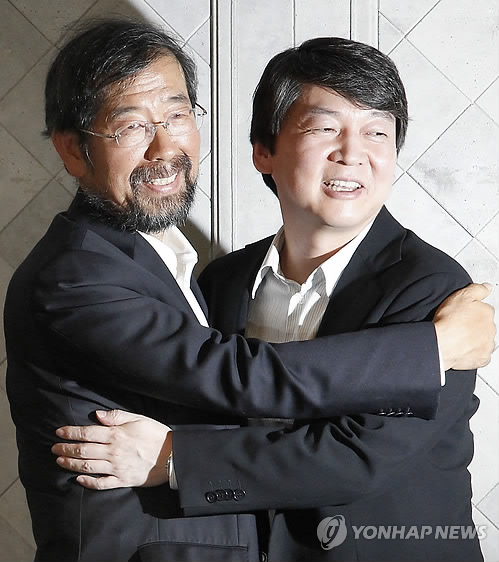 안철수 서울시장 불출마..박원순으로 단일화(3보)