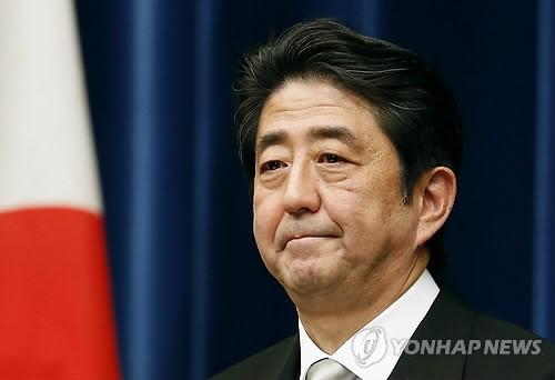 취임 회견하는 일본 아베 총리