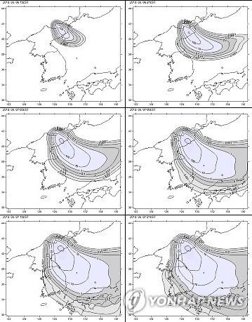 백두산 화산 폭발하면 남한에 최대 11조1천900억 피해