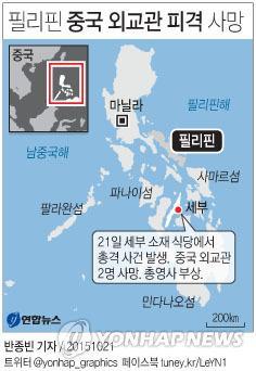 <그래픽> 필리핀 중국 외교관 피격 사망