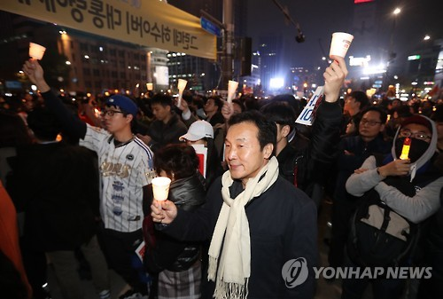 9월12일 광화문에서 촛불집회한 손학규 | 인스티즈
