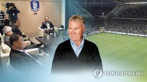 [연합뉴스] 축구협회-히딩크, 오늘 밤 \'모스크바 회동\'…어떤 역할 맡기나
