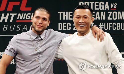UFC 정찬성-오르테가, 이구동성