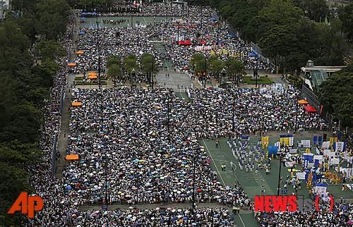 홍콩 반환 17주년 항의 집회 개최…50만 명 이상 참여 예상