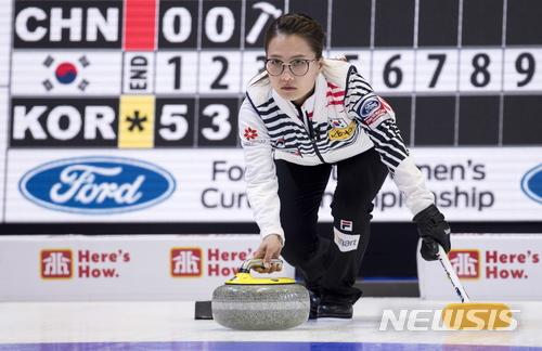 '팀킴' 여자컬링, 세계선수권에서 중국 쳐냈다···5승1패
