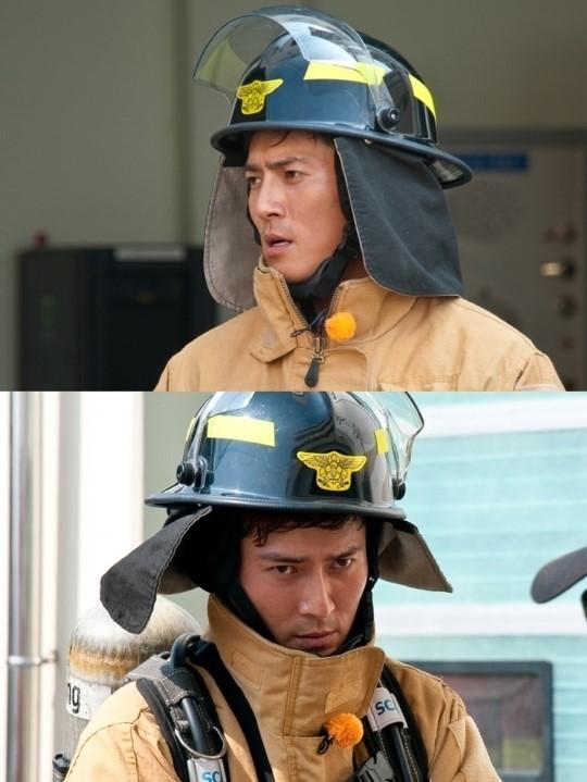 조동혁, 소방관 변신 '심장이 뛴다' 촬영 사진 강렬 눈빛 발사