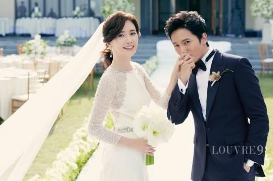 [포토] 지성 이보영, 결혼식 본식 사진 선남선녀 '한편의 그림'