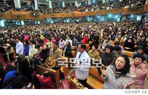여의도순복음교회 새벽기도회 현장