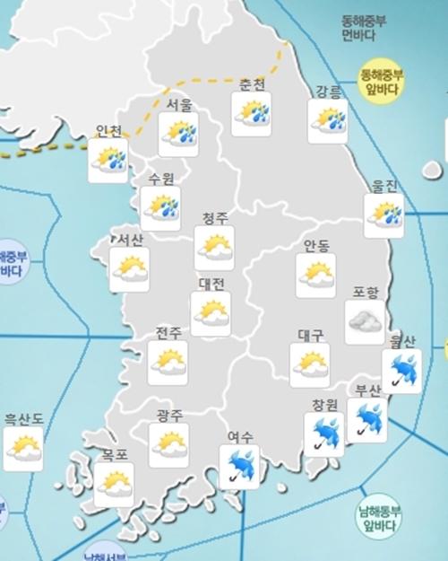 서울 날씨, 벼락과 천둥 동반 많은 비…시민들 발만 '동동'