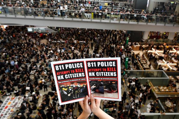 시위대 점거로 폐쇄됐던 홍콩공항 정상운영 시작