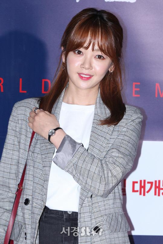 김보미, 작은 얼굴에 꽉찬 이목구비! (불한당 VIP시사회)