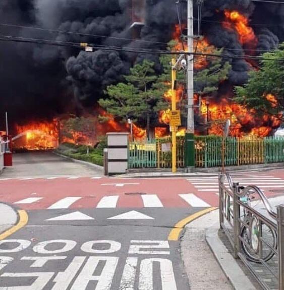 서울 은명초등학교 화재