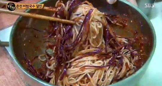 '생활의 달인' 춘천 비빔국수 달인 비법 화제...은은한 단맛의 양념장