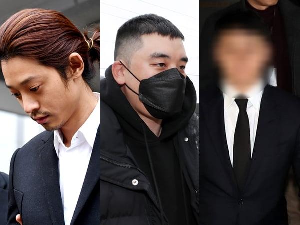 '버닝썬' 우정 와장창…정준영·유인석, 승리 재판 증인 불출석