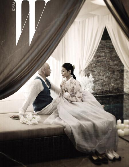 발레리나 강수진, 외국인 남편과 전통혼례 사진 공개
