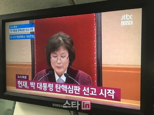[朴 운명의 날]탄핵심판 선고 실시간 시청률, JTBC가 가장 높아