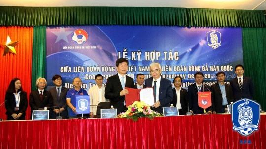 대한축구협회, 베트남축구협회와 교류 위한 MOU 체결