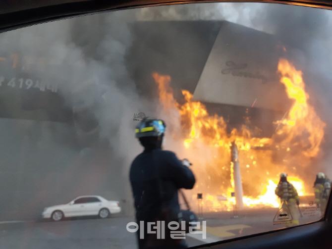 서울 은평구 모델하우스에서 화재…