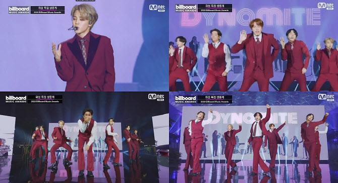 방탄소년단, '2020 빌보드 뮤직 어워드'서 밴드 버전 무대 펼쳐