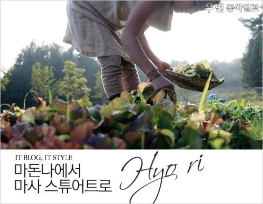 [우먼 동아일보] IT BLOG, IT STYLE~ 마돈나에서 마사 스튜어트로, 효리(Hyo ri)