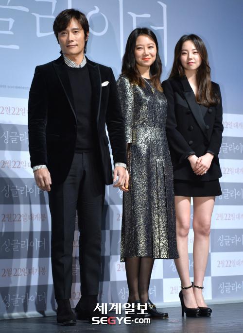 [포토] 이병헌-공효진-안소희, '싱글라이더 출연진 한자리에'