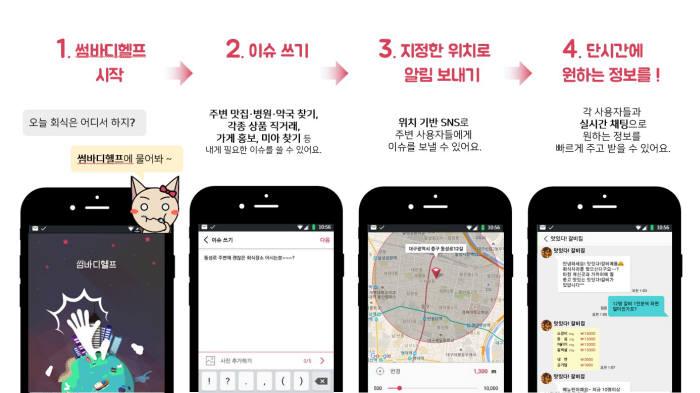 썸바디, 위치기반 신개념 SNS 서비스 `썸바디헬프` 출시