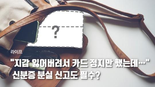 """[라이프] """"지갑 잃어버려서 카드 정지만 했는데…"""" 신분증 분실 신고도 필수? [기사]"""