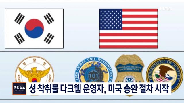 [종합뉴스 단신] '성 착취물 다크웹' 운영자 손정우, 미국 송환 절차 시작