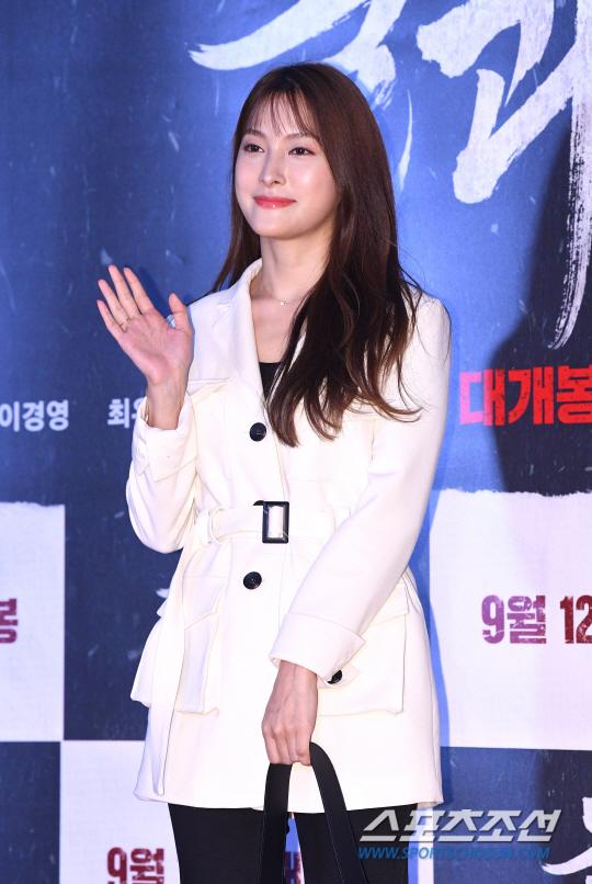 [포토] 박규리 '사랑스러운 손인사'