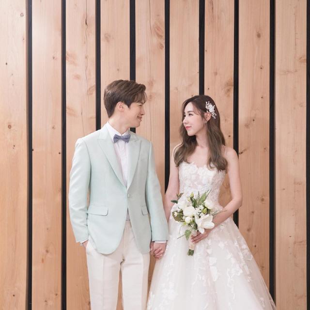 '11월 결혼' 간미연♥황바울, 무보정 웨딩화보