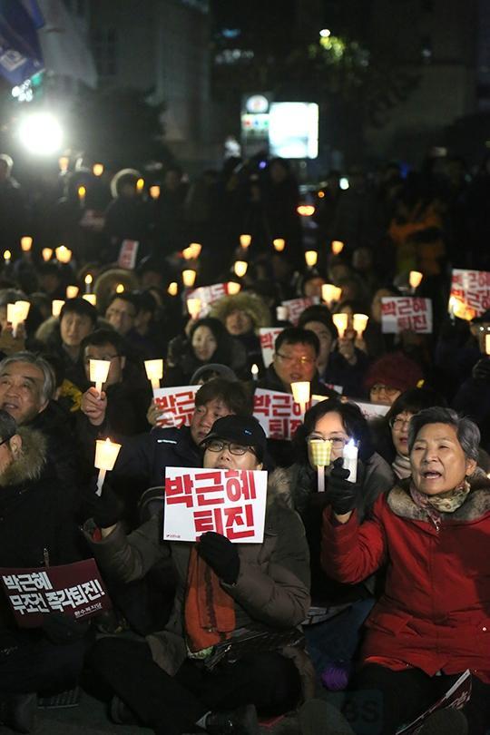 '여의도촛불집회' 여의도로 온 촛불 [포토]