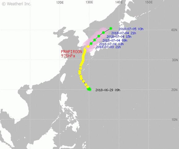'쁘라삐룬' 태풍위치 3일 오후 4시 업데이트, 이동 예상 경로 관련 '부산태풍' 울산태풍' 검색어 빗발