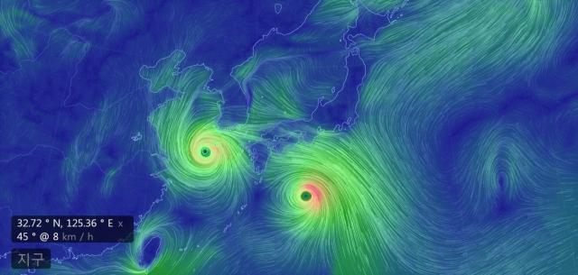 태풍 위치 실시간 영상으로 본다?…현재 태풍 솔릭 위치 경도 32.72 위도 125.36, 태풍 진로는?