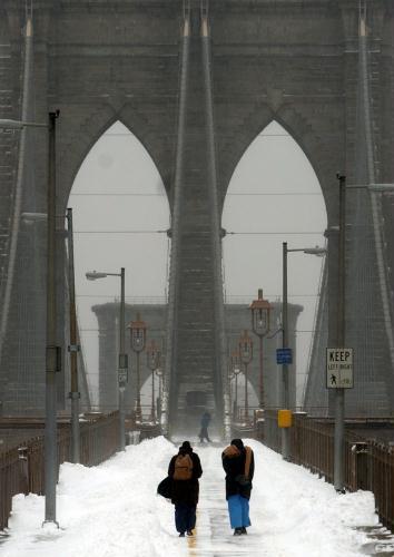 USA NEW YORK SNOW STORM - 포토뉴스