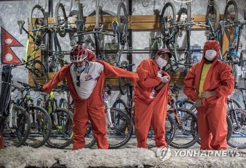 NEPAL PHOTO SET WORLD BICYCLE DAY CORONAVIRUS PANDEMIC - 포토뉴스
