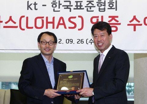 KT 올레그린폰, 친환경 로하스 인증