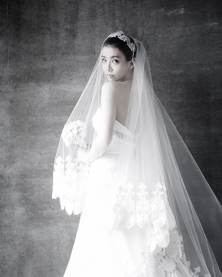 '결혼D-1' 박선영, 웨딩사진 또 공개