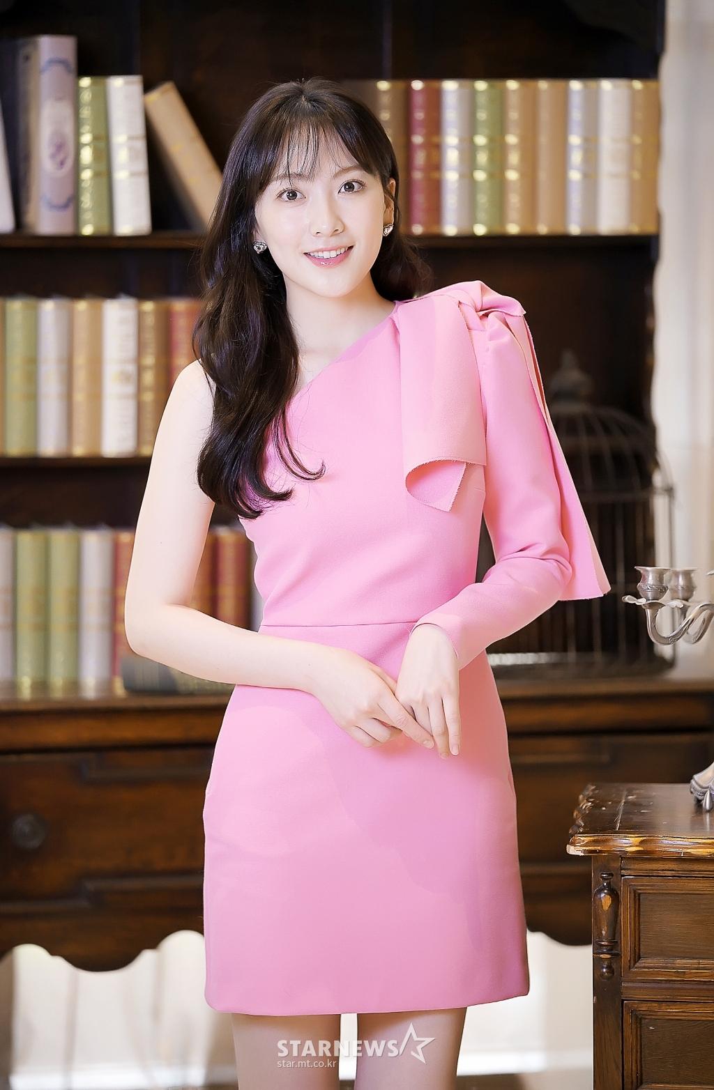[★포토]강지영 '핑크 여신'