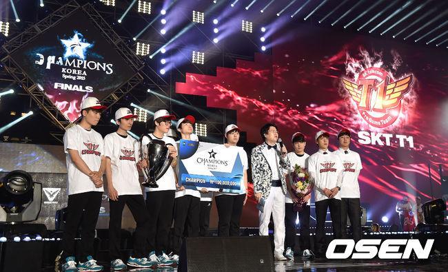 [사진]SKT,'롤챔스 스프링시즌 우승 V3 달성' (롤챔스)
