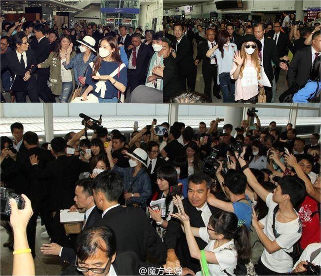 티아라, 홍콩 인기 뜨겁다..인산인해 환영 인파