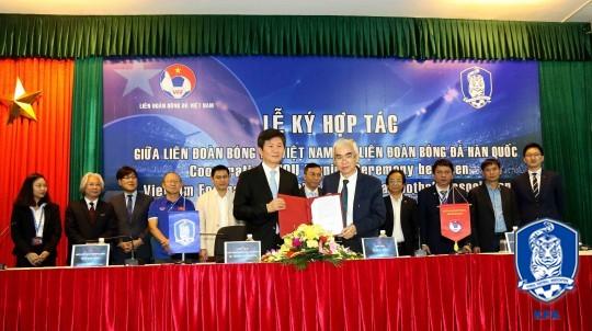 KFA-베트남축구협회, 축구 교류 위한 MOU 체결