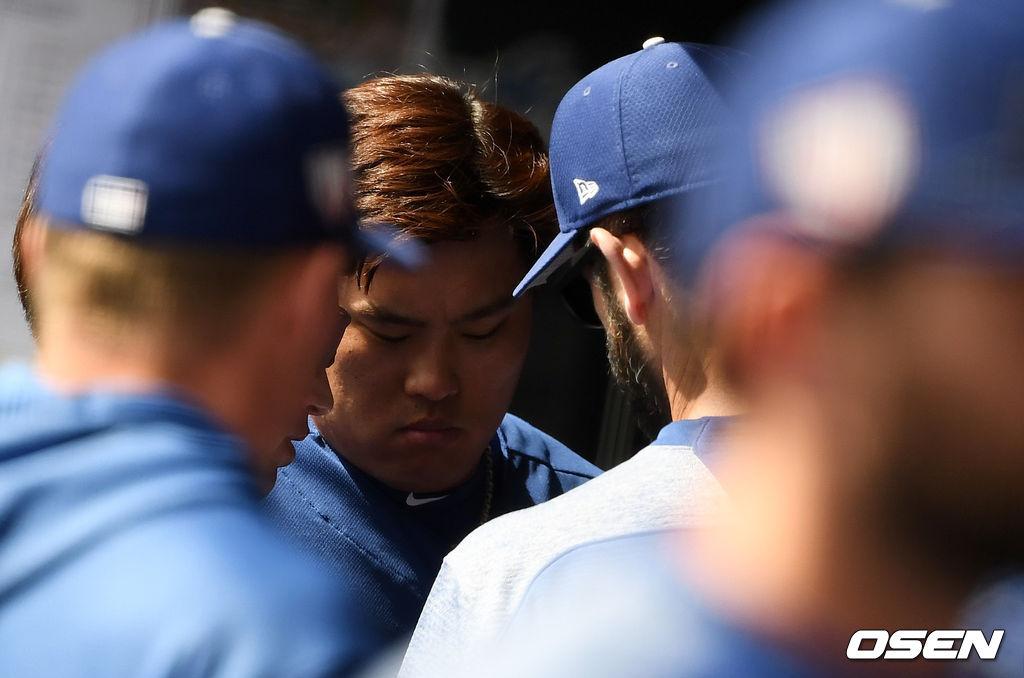 [사진]류현진 '진지하게'