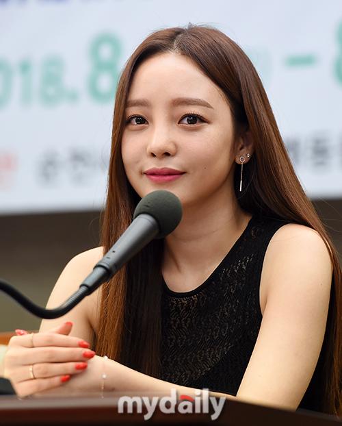 [MD포토] 홍보대사 구하라 '심쿵하는 아이컨택'