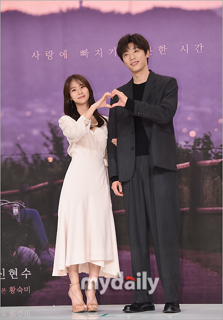 [MD포토] 한승연 신현수 '달콤한 하트'