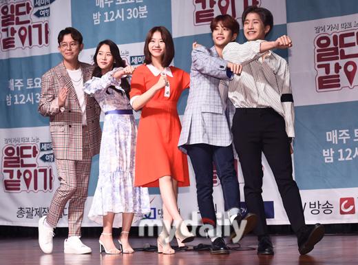 [MD포토] 토니안,한승연,진진,MJ,김소혜 '일단 같이 가!'
