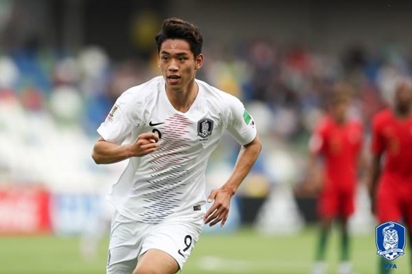 [한국-아르헨] '오세훈 선제골' 한국, 아르헨에 1-0 리드(전반 42분)