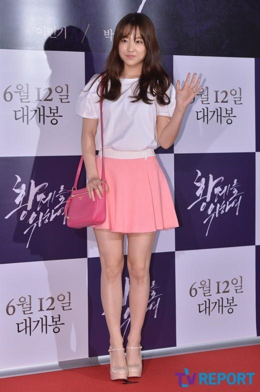 [T포토] 박보영 '핑크공주가 따로 없네'(황제를 위하여)