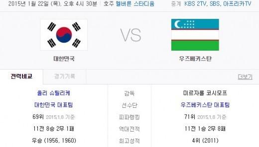 아시안컵 8강 대한민국 vs 우즈베키스탄, 도박사 한국 승리 점쳐