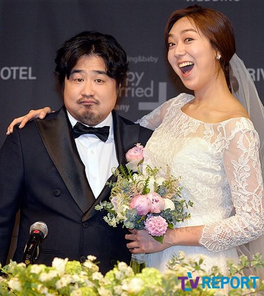 [T포토] 강재준-이은형 '우리 결혼해요'