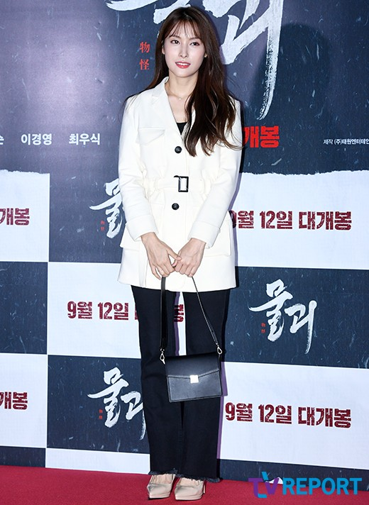 [T포토] 박규리 '단아한 블랙&화이트 패션'